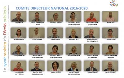Composition du comité directeur national 2016-2020