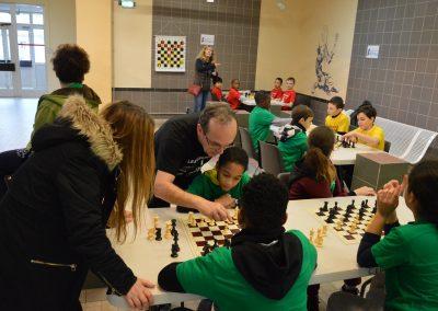 Un atelier échecs complétait la rencontre