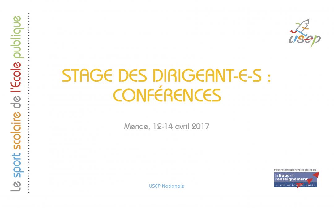 Les conférences du congrès national 2017