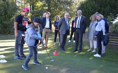 Une rencontre golf de la maternelle au lycée