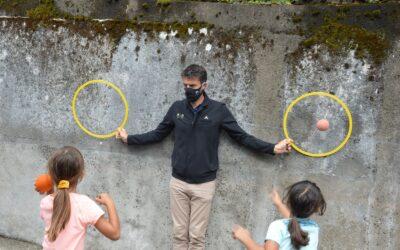 30 minutes d'activité physique quotidienne : Tony Estanguet visite une école Usep à Nantes